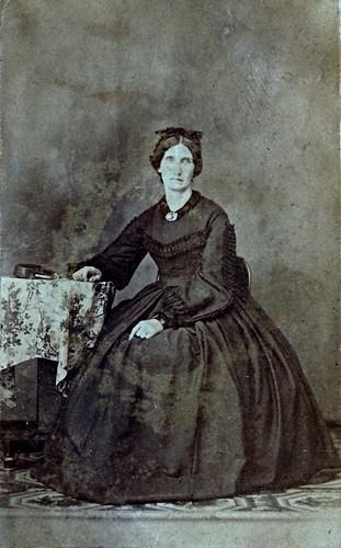 Sudden Loss, Albumen Carte de Visite, Circa 1863