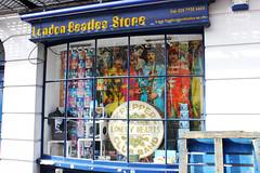 Blue B Store (Maddilly M.G.) Tags: bakerstreet london beatles thebeatles store beatlesstore musicstore johnlennon paulmccartney georgeharrison ringostarr rockmusic music goodies england urban united kingdom outdoor outside blue bluestore