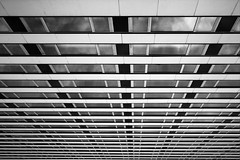 Where Am I ? (Ren-s) Tags: blackandwhite noiretblanc abstract abstrait lignes straightlines lines minimalist minimalism reflexion reflet clouds nuages bruxelles brussels belgique belgium europe architecture buildings btiment