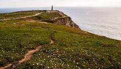 Cabo da Rocas - To the edge (Miccighel) Tags: portugal travel landscape friends westernmost portogallo portuguese lisboa lisbona amici vacanza viaggiare