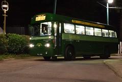 AEC Regal RF 281, MLL 818, night running  at the East Anglia Transport Museum 24 09 2016 (pnb511) Tags: eastangliatransportmuseum suffolk rf single deck bus aec