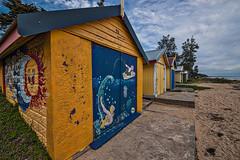 Nautical Motif (gecko47) Tags: dromana morningtonpeninsula portphillip melbourne beach sand foreshore bathingboxes beachhuts colourful vivid valuablerealestate attractions