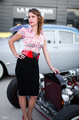 Pin-Up (Frd.C) Tags: vintage pinup style french france canon lens 50 5d motors dress dijon bourgogne