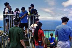 The Top of the Top (AntyDiluvian) Tags: hawaii 2001 30thanniversary oahu honolulu diamondhead cone volcaniccone trail summittrail diamondheadstatemonument top observationplatform