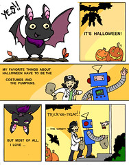 Bat-o-ween, pg 1 of 4 (Fox Mime) Tags: halloween minicomic