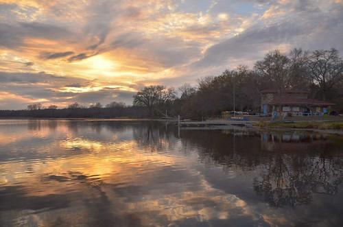 Lake Wingra sunset 11-3-2012 308