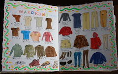 Travel Wardrobe (noriko.stardust) Tags: travel france illustration watercolor notebook pages drawing diary illustrated journal blogger clothes note watercolour wardrobe ontheroad notebookism jounalling whattotaketotrip
