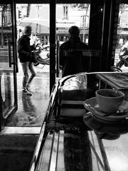 Coffee on a rainy Day is a Blessing (Al Fed) Tags: autumn paris coffee café rain bar day blessing rainy s3 20121014