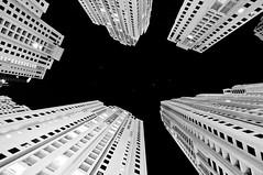High-Rises_JBR_JobyStyle (Dhowayan (Abu Yara)) Tags: longexposure bw architecture blackwhite nightshot tokina d90 dubaijbr