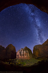 "Stars over The Organ, Zion NP (IronRodArt - Royce Bair (""Star Shooter"")) Tags: nightphotography sky lightpainting night stars landscape nightscape astro astronomy angelslanding zionnationalpark heavens universe nightscapes bigbend starrynight milkyway theorgan zioncanyon greatwhitethrone starrynightsky"