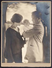 Newborn James D. Watson with his parents, 1928 (CSHL Archives) Tags: portraits cshl jamesdwatson moderngeneticsanditsfoundations