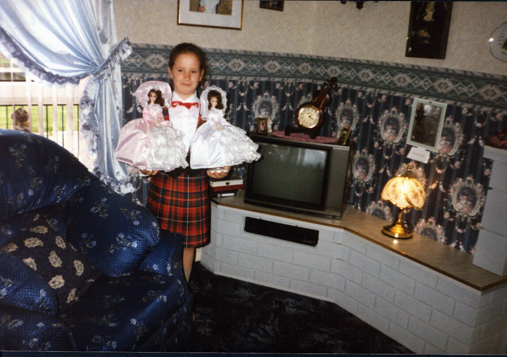 Maryanne with her Dolls, 1990s