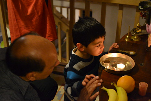Puja (prayer) is a family affair