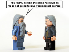 Magic Hair (Oky - Space Ranger) Tags: hair funny lego wizard magic harry potter powers professor hogwarts argus dumbledore squib filch