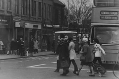 Tor984, High Street, Gosforth, c1965 (Newcastle Libraries) Tags: england people newcastle 60s suburban north social tyne historic wear east 70s 1960s 1970s seventies sixties laszlo torday surburbs