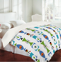 Retro Shape DENY linens (birdarts) Tags: bird geometric shower design cool graphic designer patterns sheets retro fabric cover designs curtains shape clocks andi duvet linens
