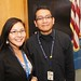 NASA employees Michon Johnson and Orson John pose for a photo prior to the, 'Celebrating Native American Voices' panel discussion at the NASA Goddard Space Center in Greenbelt, Maryland. The event is in observance of National Native American Heritage Month. Friday, November 16, 2012. Photo by Jared King / Navajo Nation Washington Office.