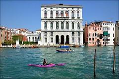 Venice : Kayaking on the Grand Canal /  Palazzo Ca' Corner ( italian Della Ca' Granda ) (Pantchoa) Tags: ca venice italy corner nikon italia kayaking canoeing della palazzo venise grandcanal granda rower canalgrande d90 palazzocorner canokayak canalezzo cacorner
