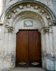 Mont-de-Marsan, Landes: glise Rforme, porte (Marie-Hlne Cingal) Tags: door france puerta porta porte 40 tr landes sudouest aquitaine montdemarsan