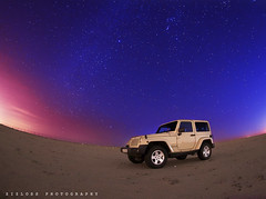 Kuwait Stars (ZiZLoSs) Tags: car night stars landscape long exposure nightshot jeep fisheye kuwait startrails 30seconds q8 wrangler 10mm zizloss canoneos7d abdulazizalmanie kandooor