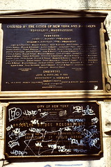 NYC April 1980 pic113 (streamer020nl) Tags: nyc bridge newyork brooklyn plaque 2000 brooklynbridge 5000 1980 3000 1000 6000 4000