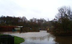 Depot at Pollock Park flooded (adm cro) Tags: whitecartwater spate highflow