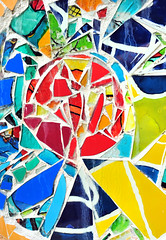 mosaic wall decorative ornament from ceramic broken tile (Maxim Tupikov) Tags: wallpaper house abstract color texture home broken glass lines wall closeup architecture vintage painting tile ceramic grid design pattern exterior floor graphic random modeling outdoor mosaic decorative background interior decoration creative picture surface architectural indoors backdrop concept ornate flooring decor element mixture seamless irregular tiled redecorate