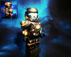 Halo 4 - Spartan IV Recruit (MGF Customs/Reviews) Tags: war lego infinity chief 4 halo games master figure iv ops spartan cortana unsc