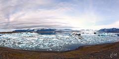 Glacial Lagoon (Voimäki) Tags: panorama scale glacier icebergs calving jökulsárlón blueice glaciallagoon terminalmoraine southcoastoficeland geologyinaction humansasinsignificantobserversofnature