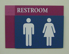 Interior ADA Compliant Restroom Sign