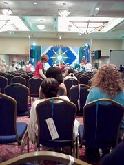 Waiting for Ammaji in Detroit, 2012 (Lotus Born) Tags: india saint yoga detroit meditation hindu amma swami 2012 darshan vedic prasadam ammaji