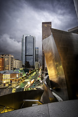 Disney Concert Hall Drama (Michael Bandy) Tags: california city reflection clouds nikon cityscape disney socal downtownla southerncalifornia 1020mm dtla losangelesskyline cloudscapes waltdisneyconcerthall cityskyline disneyconcerthall crazyclouds downtownlosangeles sigma1020mm losangelescounty d300s nikond300s