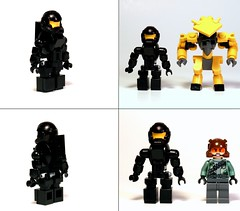 Spartan Height Comparison (Eta-2 Actis) Tags: brick marine lego halo elite comparison built spartan covenant unsc