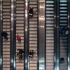 conduits (Jon Downs) Tags: people brown white black color colour roma art colors station metal bronze digital downs lumix photography photo jon flickr strada artist colours photographer image metro metallic escalator picture pic photograph escalators stazione conduit citt conduits rotaia tiburtina tiburtino happybirthdayantonio gf5 ferroviestato jondowns