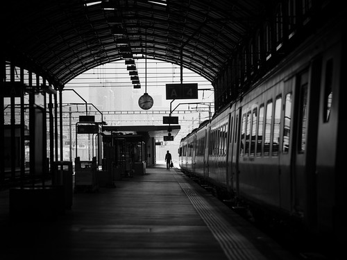 Leaving Switzerland, train station - Luzern