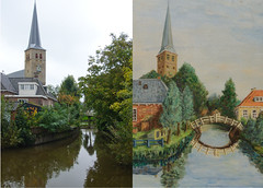 Find the differences.4.or Where did my father make this painting? (3) (John de Grooth) Tags: tower church toren kerk friesland sneek bolsward frysln nijland abigfave findthedifferences zoekdeverschillen sdwestfrysln sdwest spotdedifference kerkvannijland torenvannijland lookforthedifference