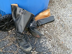 Given the boot (silverfuture) Tags: chicago leather trash boots pavement worn recycling logansquare zippers fluevog adios bluebin
