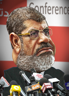 From http://www.flickr.com/photos/47422005@N04/8230688092/: Mohamed Morsi - Caricature
