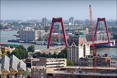 rotterdam view south east (heavenuphere) Tags: street city bridge roof building netherlands skyline architecture river outdoors site construction rotterdam europe apartments cityscape exterior view apartment rooftops crane south centre nederland east suburb van huis maas surroundings gi willemsbrug nieuwe witte zuidholland southholland brienenoordbrug 55250mm