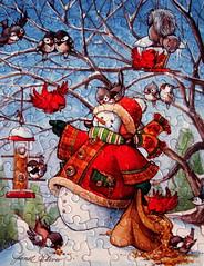 """Feathered Friends"" (Puzzler4879) Tags: christmas winter snow art birds animals canon holidays snowmen puzzles pointshoot puzzling canonpowershot jigsaws canondigital canonaseries christmasart holidayart canonphotography wonderfulphotos jigsawpuzzles a590 canonpointshoot flickraward a590is canona590is canonpowershota590is canonpowershota590 powershota590is level1photographyforrecreation niceasitgets~level1 redlevelno1 janetstever"