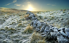 Heavy frost. (sidibousaid60) Tags: uk winter sunrise buxton frost derbyshire peakdistrict drystonewall goytvalley bunsallcob