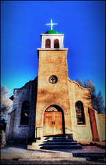 """A Church For Forgiveness (SmokinToast Thanks for over 2 million views) Tags: show old travel family blue autumn light sunset summer wallpaper portrait sky bw usa cloud sun abstract mountains hot newmexico santafe southwest color sexy art fall love church nature beautiful composition america canon landscape town photo cool interesting friend perfect colorful skies dof shot dynamic sweet bokeh toast awesome rustic dream scenic picture explore telephoto photograph american western 5d dreamy overlook smokin hdr cerrillos 2012 iphone compose ipad photomatix coolshot tonemapped """"pictureperfect"""" """"markii"""""""