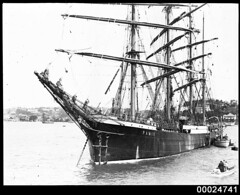 Four-masted barque PAMIR in Sydney Harbour, c 1947