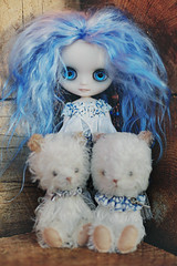 A Girl and Two Bears