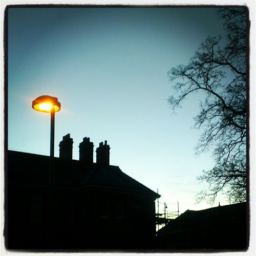 Bright light #instagram #photo #dawn #blue #sky #cold #HTC