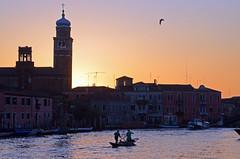 Murano (Wolfgang Binder) Tags: venice sunset sky sun tower church silhouette canal nikon murano venezia d7000