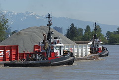 Working River (agent1320) Tags: canada west river coast boat marine tugboat tug tow barge towing barges towboat