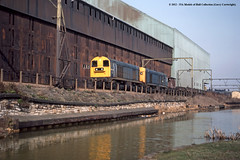 09/03/1983 - Attercliffe, Sheffield. (53A Models) Tags: train diesel sheffield britishrail southyorkshire freighttrain attercliffe raiway 20131 class20 20133
