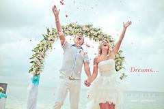 IMG_1587_dreams (Amritino) Tags: ocean flowers wedding bali white beach smile happy groom bride coast sand kiss honeymoon dress rice ceremony marriage sunny romantic celebrate lovestory ubud
