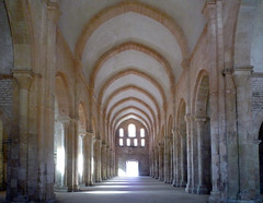 Nave Looking West, Abbaye de Fontenay